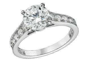 カルティエ プラチナ 立爪ダイヤモンドリング