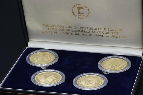 記念金貨セット 22金 ポルトガル200エスクード