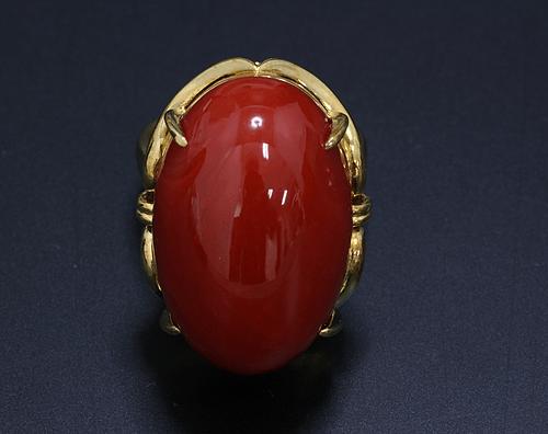 【宝石買取 茨城県】血赤珊瑚(サンゴ) 指輪