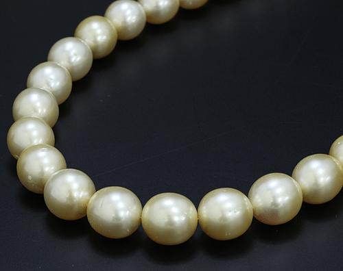 【真珠(パール)買取】南洋真珠 ネックレス ゴールデンパール