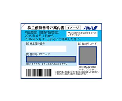 金券買取(株主優待券:ANA、JAL、JR)