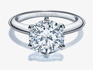 ティファニー ソリティア(立爪) ダイヤモンド リング PT950 1.03ct H-VS1-EX